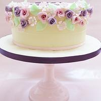 Vintage shades of lilac and pink