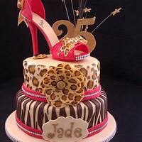 Stiletto heel shoe cake