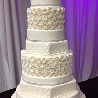 11 tier rosette wedding cake.