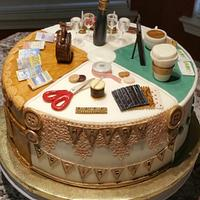 """A Few of Her Favorite Things"" Retirement Cake"