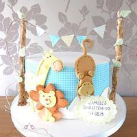 Animal Christening Cake