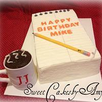 Journalist Birthday cake