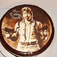 Chocolate Chuck Norris Birthday Cake