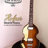 Standing Hofner Beatle Bass Cake - Paul McCartney