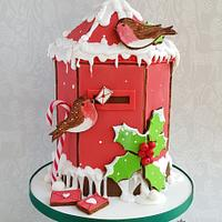 Gingebread House Challenge - Christmas post box