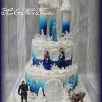 Frozen airbrushed castle