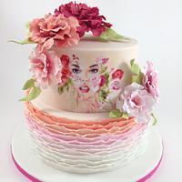 Woman themed cake