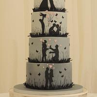Love Story Silhouette Wedding