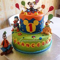 Miky mouse & co cake