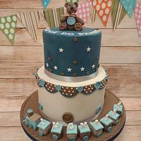 Christmas Eve Christening Cake (as
