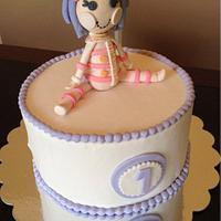 Lalaloopsy doll cake.