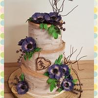 Birch weddingcake