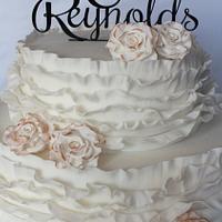 Frilled Wedding Cake