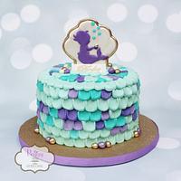 Baby Shower Mermaid Cake