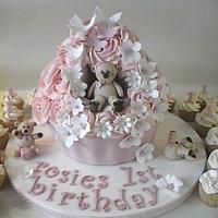 Giant Teddy Cupcake by BellaButterflys