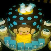 Monkey Boy Cake n Cupcakes