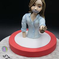 Sugar art tegen pesten vwz Mati's hoop - collaboration  by Olina Wolfs