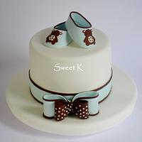"""Baby """"shoes""""cake"""