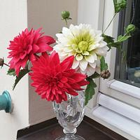 Dahlias - Sugar flowers