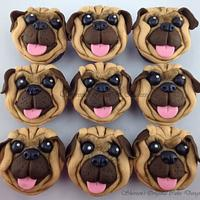 Pug Cupcakes by Shereen