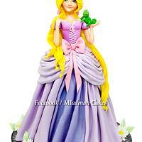 Rapunzel 3D Cake