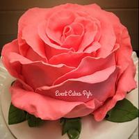 Giant Pink Rose Cake