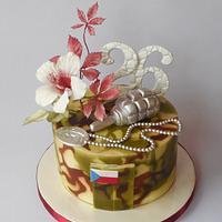 Military birthdays cake