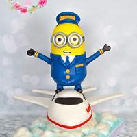 Pilot minion 3d cake
