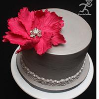 My 24 hour Cake with flower tutorial