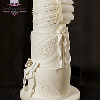 Wedding Dress Cake by CakeyBakey Boutique
