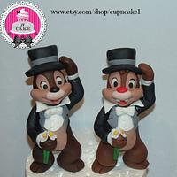 Chip and Dale fondant cake toppers