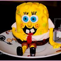 Spongebob Fondant Cake Topper