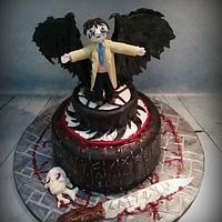 Supernatural Castiel cake