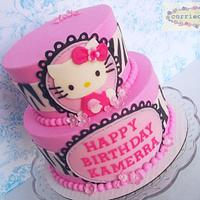 Pink and Zebra Hello Kitty by Corrie