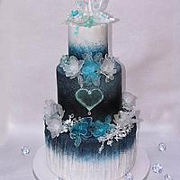 Ice wedding cake