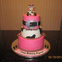 Cowgirl Birthday Cake by Michelle