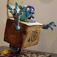 Boxtroll 'Wheels' Extreme Armature Cake by Dominique Ballard