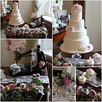 Bobbins & Lace Vintage Wedding Cake