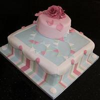 Kath Kidston inspired 60th Birthday Cake