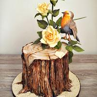 Bird with Roses