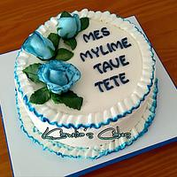 BLUE ROSES BIRTHDAY CAKE