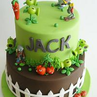 Plants vs. Zombies Cake by eunicecakedesigns