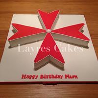 Maltese Cross Cake