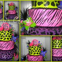 Neon Animal Print with Glam