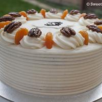 Carrot cake with cream cheese buttercream.