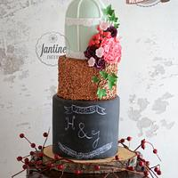 Country holiday weddingcake