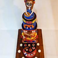 Sugar skull altar