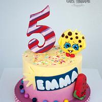 Cute adorable Shopkins cake.
