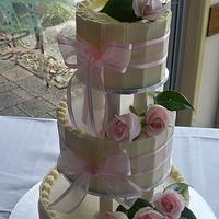 chocolate shards wedding cake by elisabethscakes