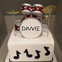 Drum Set Cake by Robyn